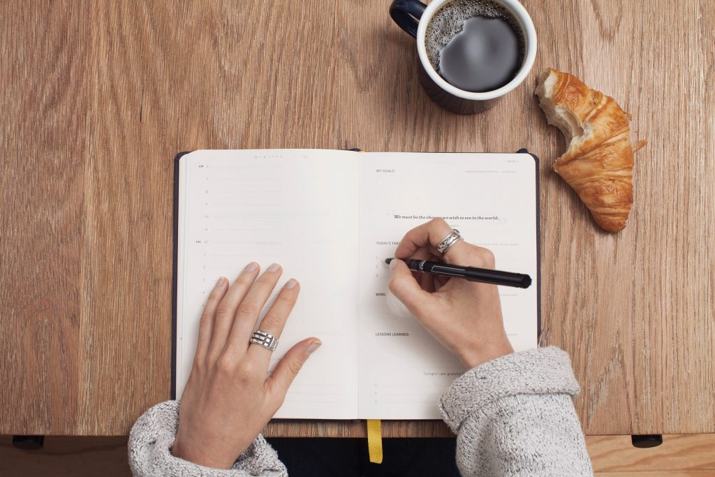 Replace social media use with a healthy journal habit