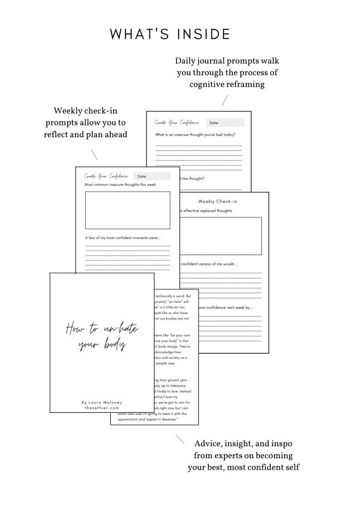 Create Your Confidence Guided Journal Pages see inside